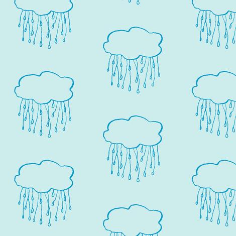 rain cloud sky fabric by gollybard on Spoonflower - custom fabric