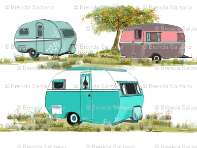 Lets Go Camping Retro Travel Trailers