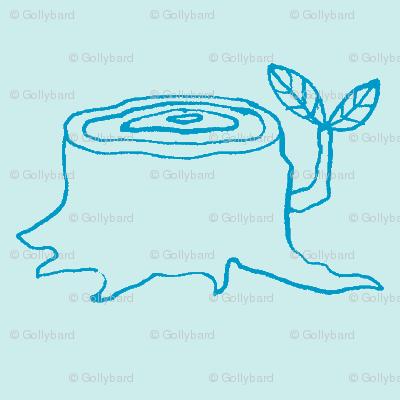 tree stumps sky