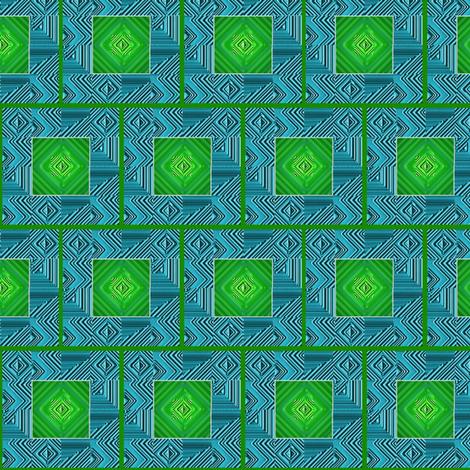 framedtilesaqua fabric by y-knot_designs on Spoonflower - custom fabric