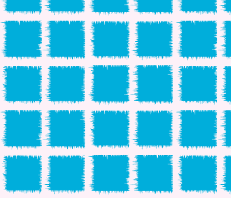 aqua square ikat fabric by laurl on Spoonflower - custom fabric