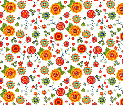 petite_flower fabric by mcuetara on Spoonflower - custom fabric