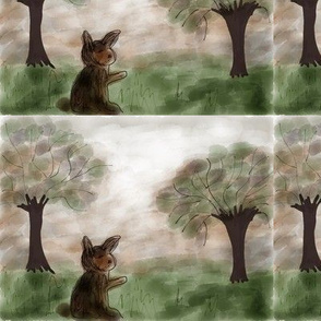 Rabbit and trees