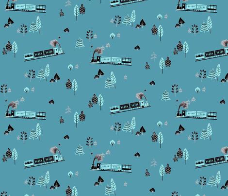 Trains fabric by lkvisualdesign on Spoonflower - custom fabric