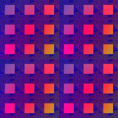 lighted windows fabric by y-knot_designs on Spoonflower - custom fabric