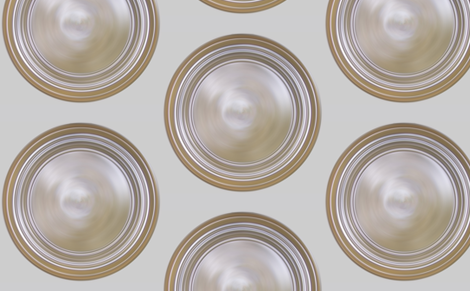 70s - 80s White   Roundel Wallpaper style 1 fabric by warmcanofcoke on Spoonflower - custom fabric
