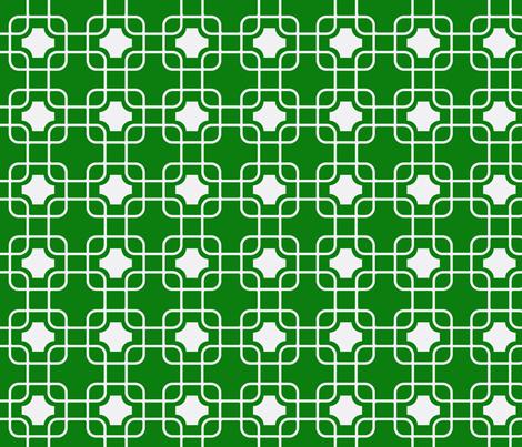 hollywood trellis Emerald fabric by ninaribena on Spoonflower - custom fabric
