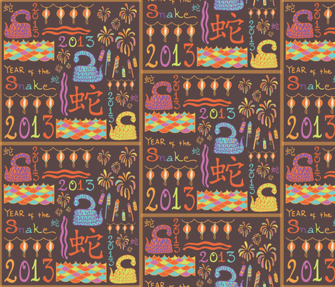 Year_of_the_Snake fabric by jumeaux on Spoonflower - custom fabric
