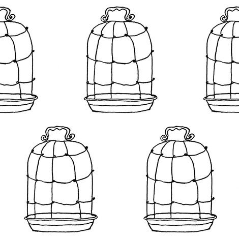 birdcage  fabric by gollybard on Spoonflower - custom fabric