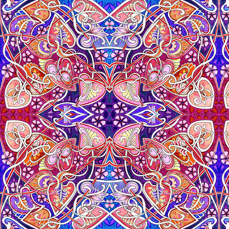 Totally Nouveau Spring (the big picture) fabric by edsel2084 on Spoonflower - custom fabric