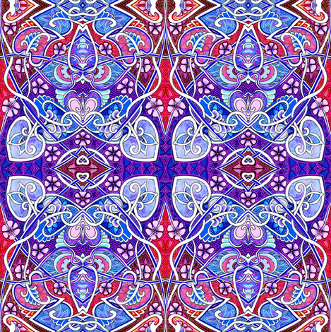 Red, White, and Blue Nouveau fabric by edsel2084 on Spoonflower - custom fabric