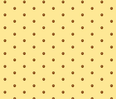 Chocolate drops on Buttercream fabric by theresa_grzecki on Spoonflower - custom fabric