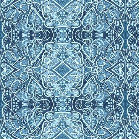 Midnight in a Delft World fabric by edsel2084 on Spoonflower - custom fabric