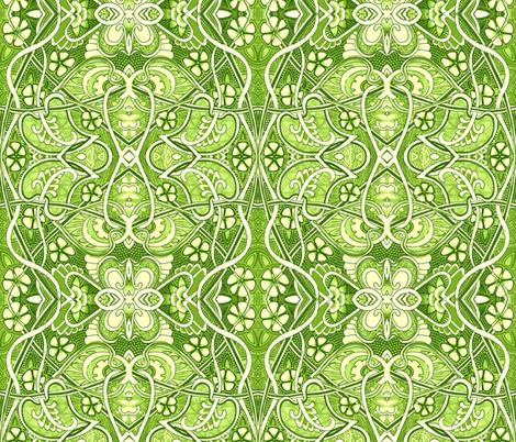 Retro Victorian Gardening fabric by edsel2084 on Spoonflower - custom fabric