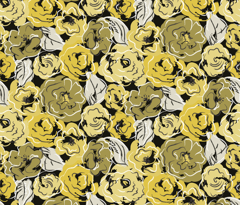 Golden Girl  fabric by mag-o on Spoonflower - custom fabric