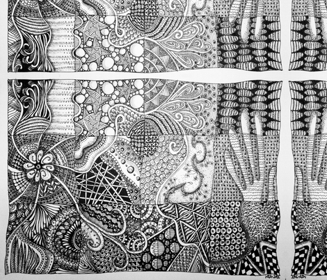 ZIA - B&W - Big fabric by loca____ on Spoonflower - custom fabric