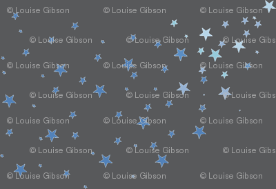 Shooting stars on dark grey