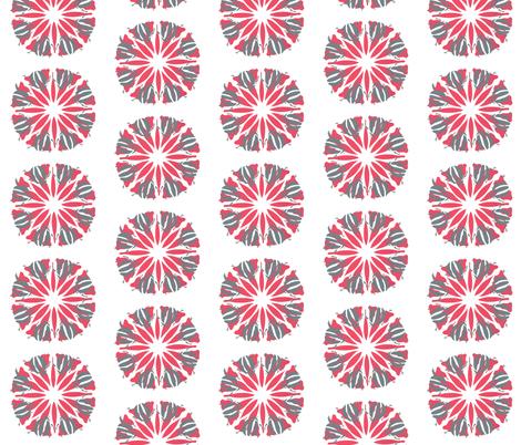 Christmas Beetles, Gum Nuts and Leaves Mandalas ©Indigodaze2012 fabric by indigodaze on Spoonflower - custom fabric