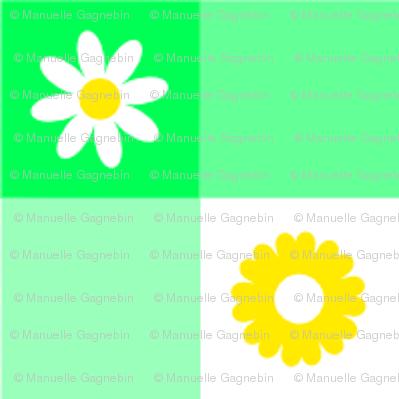 Fleur Vichy verte