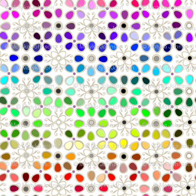 256 rainbow color chart
