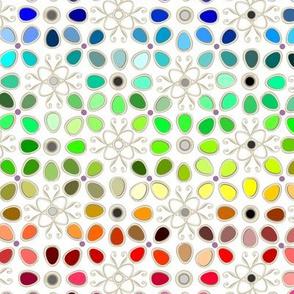 256 rainbow color chart