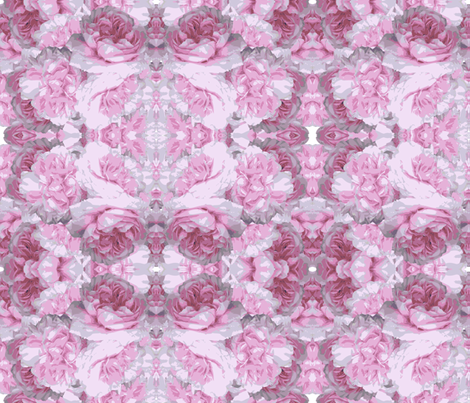 Pink Peony-flower fabric by cutiecat on Spoonflower - custom fabric