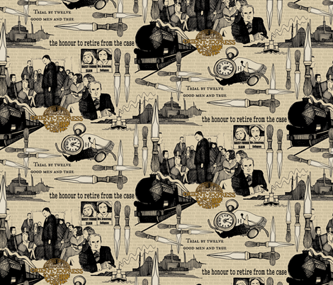 Murder on the Orient Express (Agatha Christie) fabric by scrummy on Spoonflower - custom fabric
