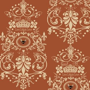 Bee damask / copper