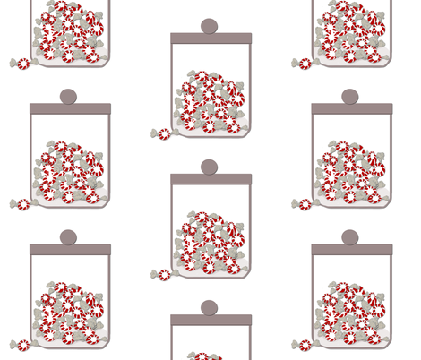 A jar of peppermints fabric by karenharveycox on Spoonflower - custom fabric