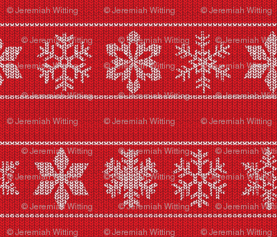 Snowflake Sweater - red