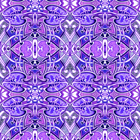 When Periwinkle Stepped Out to Dance fabric by edsel2084 on Spoonflower - custom fabric