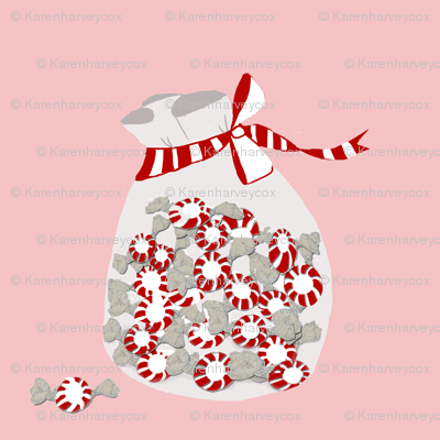 Peppermint bag on pink