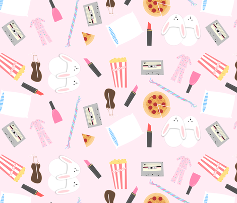 slumber party fabric by kategabrielle on Spoonflower - custom fabric
