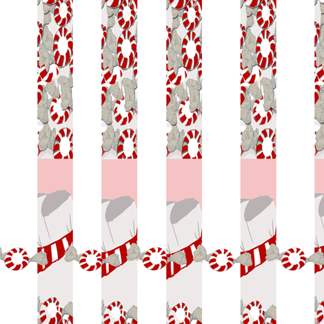 Round about the Peppermint stripe fabric by karenharveycox on Spoonflower - custom fabric