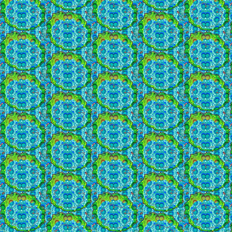 green and blue circles fabric by dk_designs on Spoonflower - custom fabric