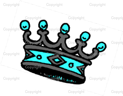 Vintage Turqouise Crown Repeat