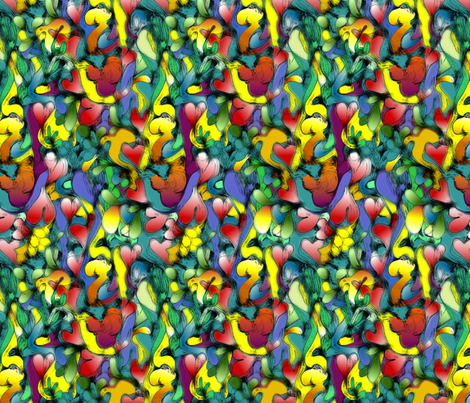 Garden of Delights fabric by glimmericks on Spoonflower - custom fabric