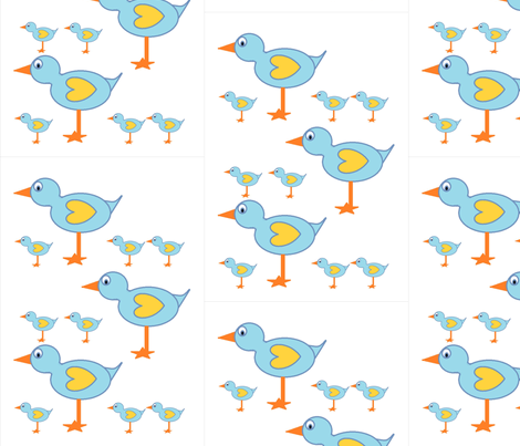 bluebirdies fabric by podaiboo on Spoonflower - custom fabric