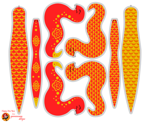 Year of the Snake Plush Toy fabric by garmonsway_designs on Spoonflower - custom fabric