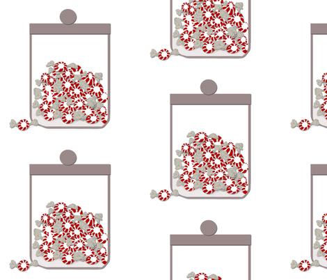 jars of peppermints large fabric by karenharveycox on Spoonflower - custom fabric