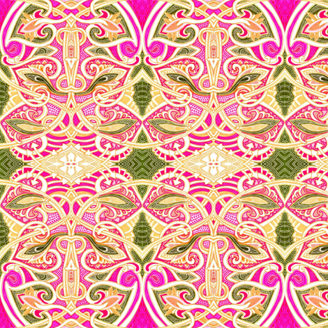 Diamonds and Scallops and Arrows, Oh My fabric by edsel2084 on Spoonflower - custom fabric