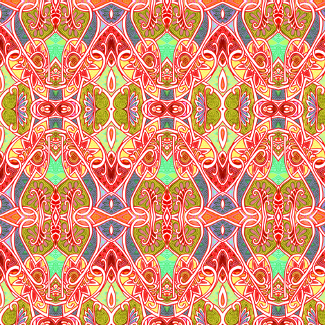 Twentieth Century Retro  fabric by edsel2084 on Spoonflower - custom fabric