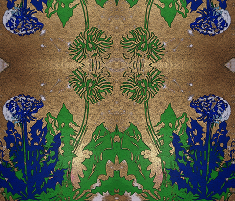 Golden Spring fabric by cherb on Spoonflower - custom fabric