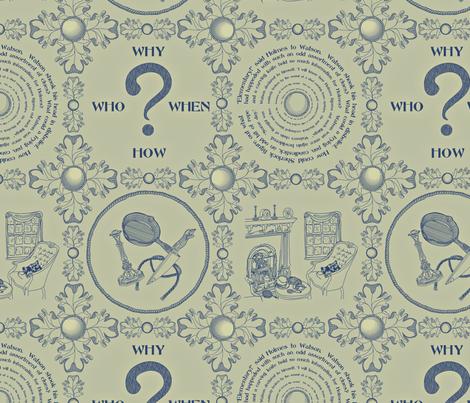 It's a mystery!!!!!!!!!!!!!-Sage Wisdom fabric by glimmericks on Spoonflower - custom fabric