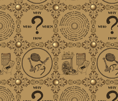 It's a mystery!!!!!!!!!!!!!-Old Time Crime fabric by glimmericks on Spoonflower - custom fabric