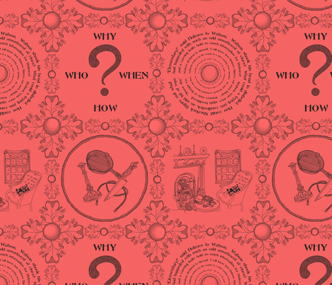 It's a mystery!!!!!!!!!!!!!-Coral and Coffee fabric by glimmericks on Spoonflower - custom fabric