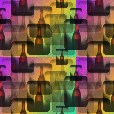 wine bottle version fabric by y-knot_designs on Spoonflower - custom fabric