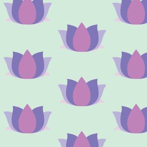 lotus garden - lilac