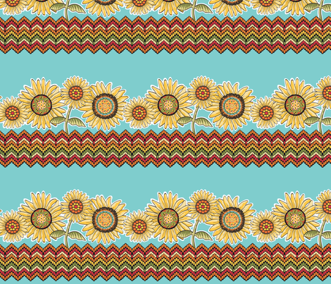 Believe_border_brown fabric by mindsthatcreate on Spoonflower - custom fabric