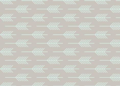 MintArrow fabric by laurenmary on Spoonflower - custom fabric